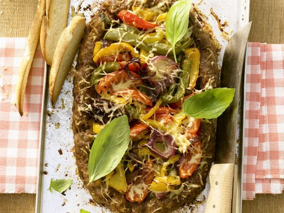 Pizza Meatloaf with Vegetables