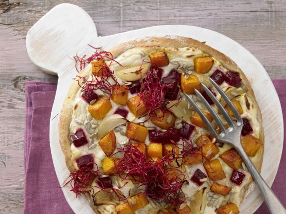 Pizza with Beets and Butternut Squash