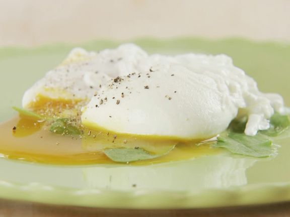 Poached Eggs with Spinach