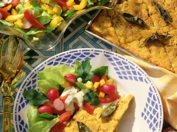 Polenta Slices with Salad