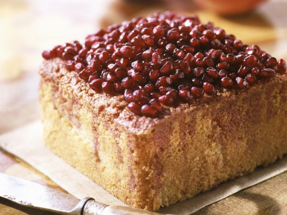 Pomegranate Topped Spiced Cake