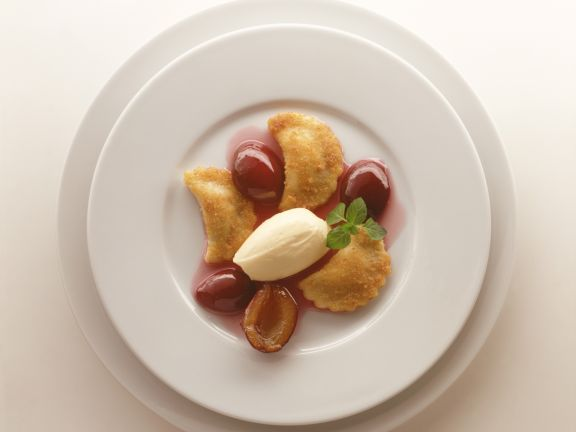 Poppy Dumplings with Plums