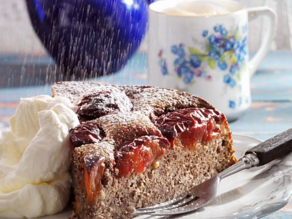 Poppy Seed Cake with Plums