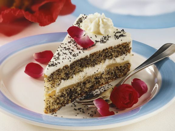 Poppyseed Layer Cake with Whipped Cream
