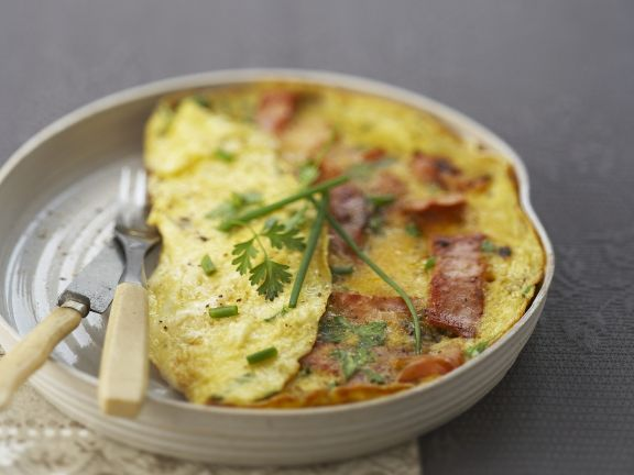Pork and Egg Omelette Dish