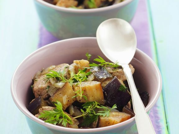 Pork and Eggplant Bowls