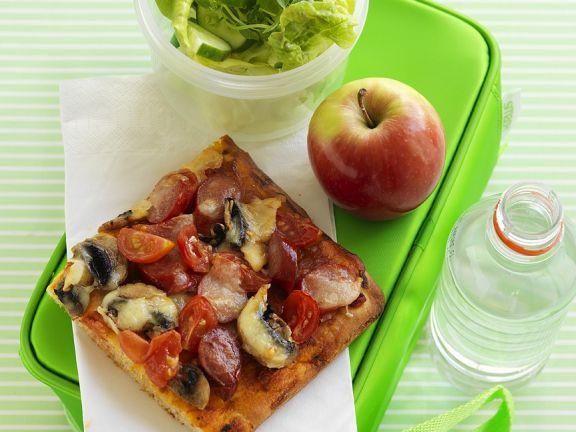 Pork and Mushroom Pizza Squares