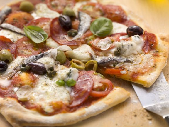Pork and Oily Fish Pizzas