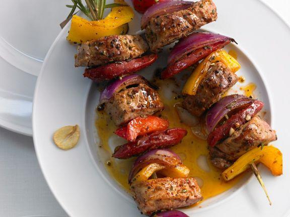 Pork and Pepper Skewers