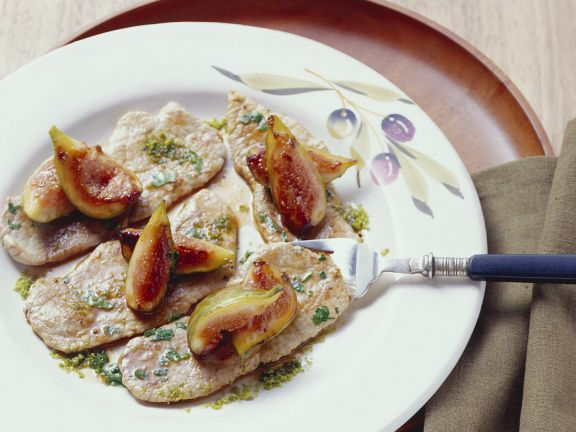 Pork Cutlets with Pistachios and Figs
