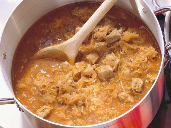 Pork Goulash with Sauerkraut