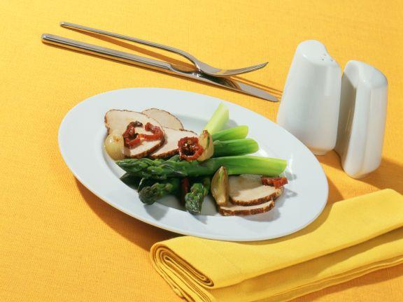 Pork Marsala with Green Asparagus