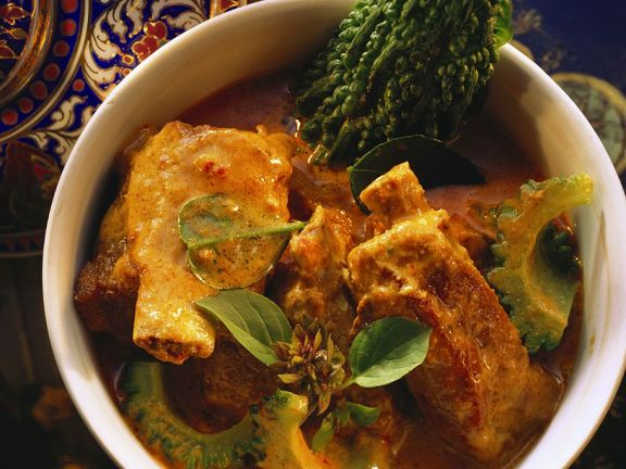Pork Ribs in Exotic Curry Sauce