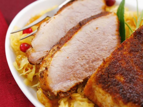 Pork Roast with Cabbage