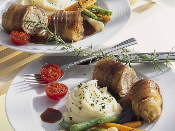 Pork Roulades with Vegetables