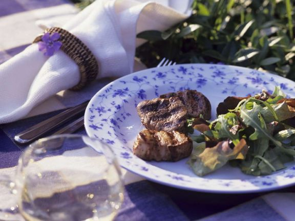 Pork Tenderloin with Arugula Salad