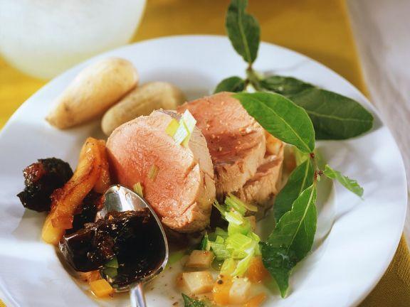 Pork Tenderloin with Plum Chutney