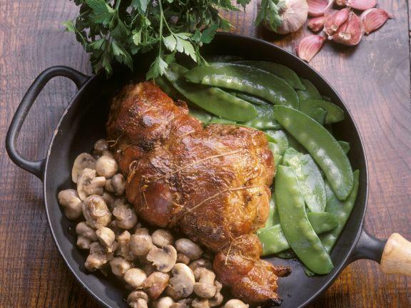Pork with Snow Peas and Mushrooms