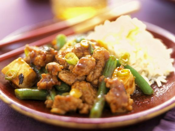 Pork with Tofu and Green Beans