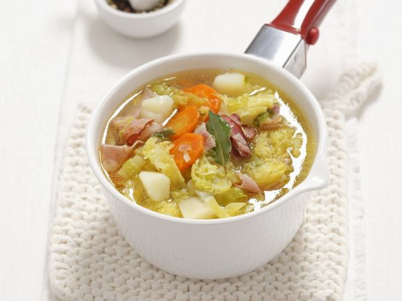 Potato and Cabbage Stew with Pancetta