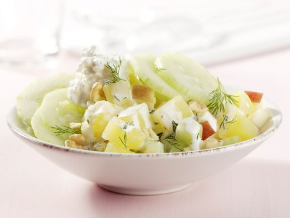Potato and Cucumber Salad with Cottage Cheese