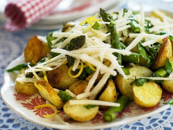 Potato and Green Vegetable Platter