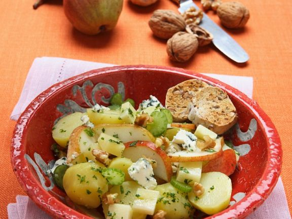 Potato and Pear Salad with Gorgonzola