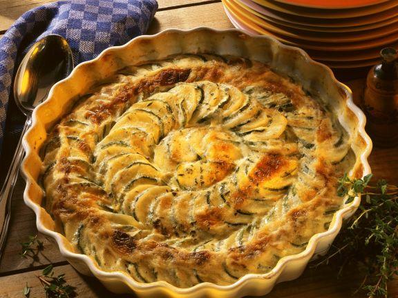 Courgette and Potato Gratin