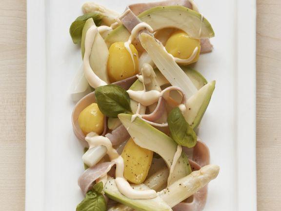 Potato, Asparagus, and Avocado Salad