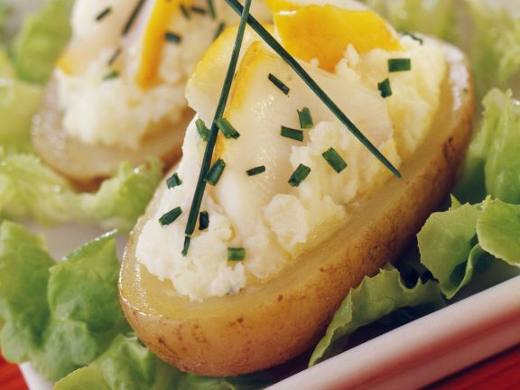 Potato Boats with Fish Filling