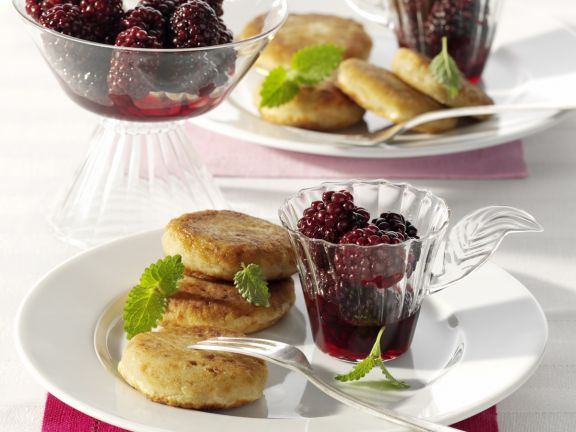 Potato Cakes with Blackberry Compote