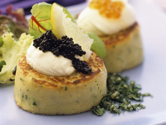 Potato Cakes with Caviar