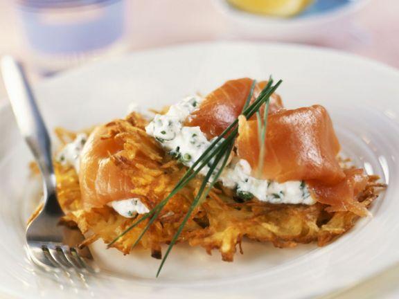 Potato Cakes with Salmon