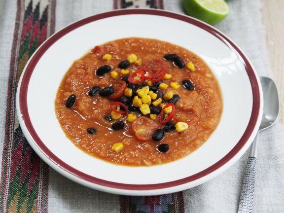 Potato, Chilli, and Bean Soup