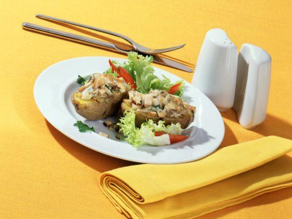 Potato Gratin with Oyster Mushroom and Pork Filling