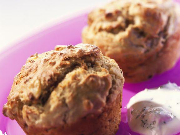 Potato Muffins with Herb Cream