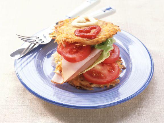 Potato Pancake Sandwiches