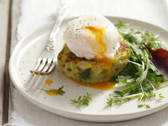 Potato Patties with Eggs