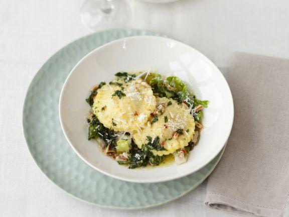 Potato Ravioli with Endives