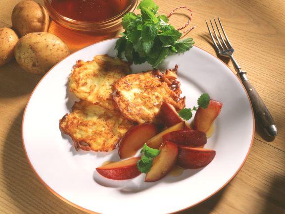 Potato Rösti with Stewed Plums