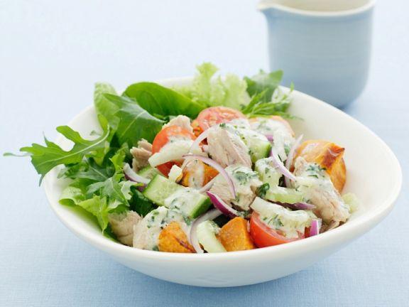 Potato Salad with Arugula and Tuna