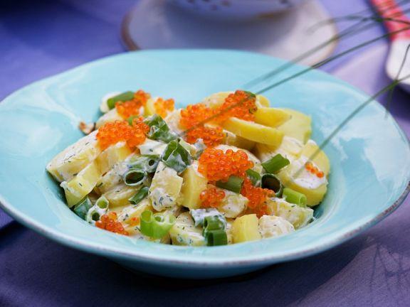 Potato Salad with Caviar