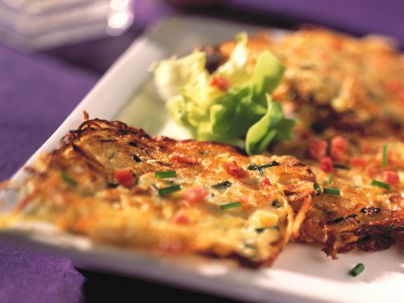 Potato Sauerkraut Cakes with Bacon