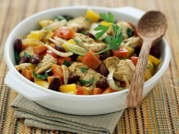 Poultry, Vegetable and Bean Stir Fry