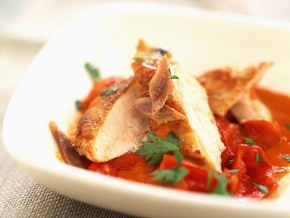 Poultry with Capsicums and Anchovy