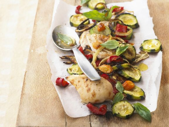 Poultry with Courgettes and Peppers