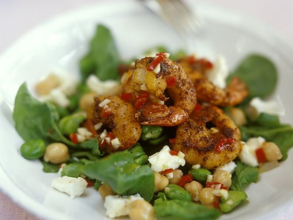 Prawn and Spinach Salad