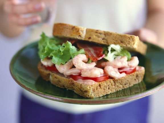 Prawn Marie Rose Sandwich