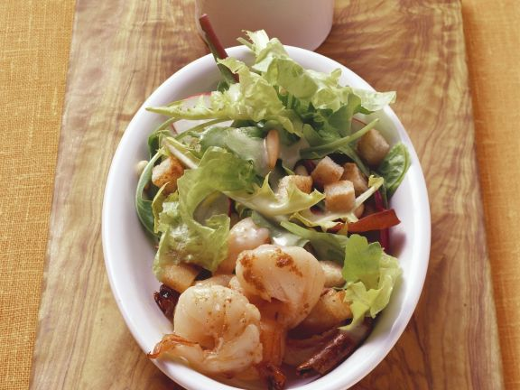 Prawn Salad with Croutons and Vinaigrette