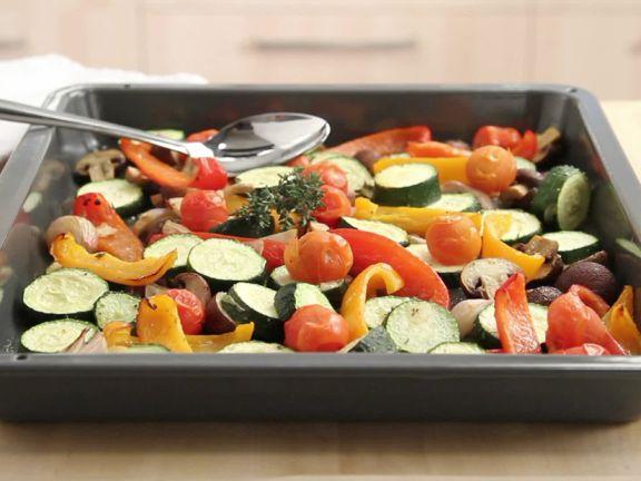 Preparing Roasted Vegetables